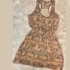 Speckled Multicolored fit and flare Dress Small